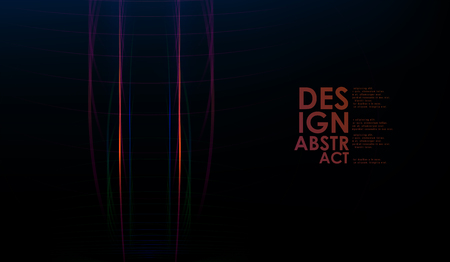 Light and stripes over dark background. Abstract colorful lines. Graphic concept for your design