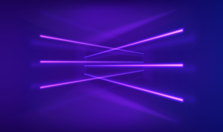 Neon lights background. Abstract psychedelic glowing lines. Digital innovation concept for your design