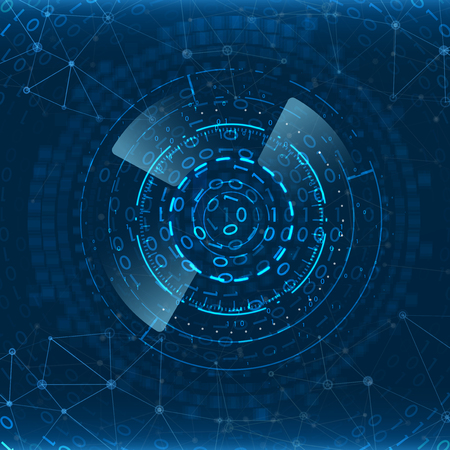 Contexte technologique abstrait. Élément d'interface futuriste. Concept d'innovation numérique pour votre conception