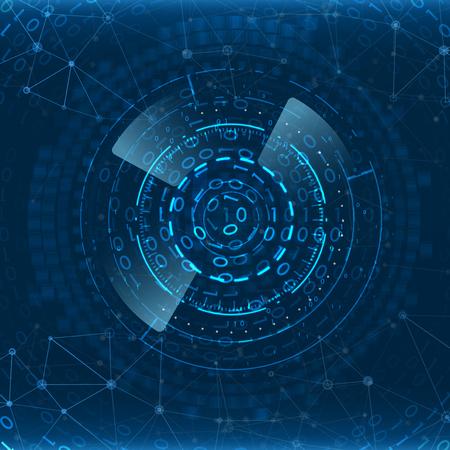 Fondo de tecnología abstracta. Elemento de interfaz futurista. Concepto de innovación digital para su diseño