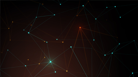 Abstract polygonal space. Global network graphic concept. Technology concept for your design