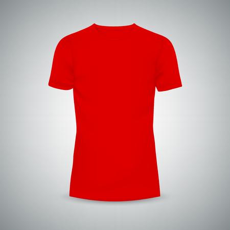 Männliches T-Shirt-Vorlagenmodell. Abbildung isolierten Hintergrund. Grafisches Konzept für Ihr Design