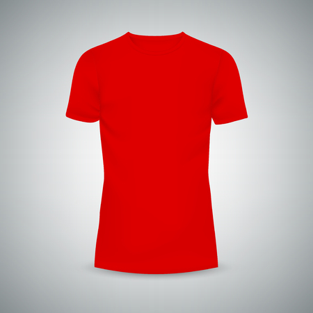 Male T-shirt template mockup. Illustration isolated background. Graphic concept for your design