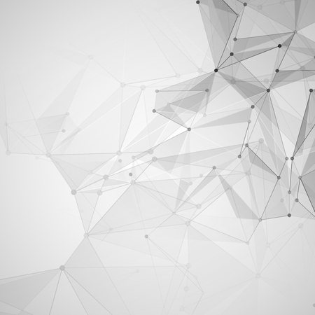 Abstract polygonal space. Background with connecting dots and lines. The concept illustration
