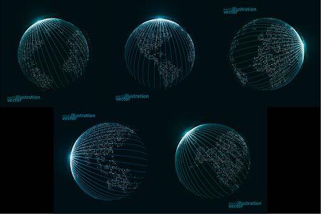 Technology image of globe. The concept illustration