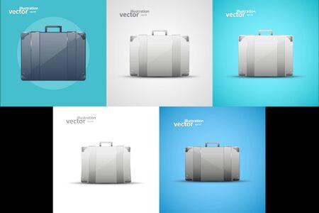 Business briefcase, modern icon, graphic design stylish concept Ilustração