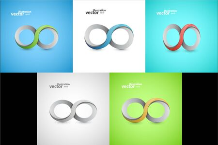 Infinity sign graphic design, stylish concept