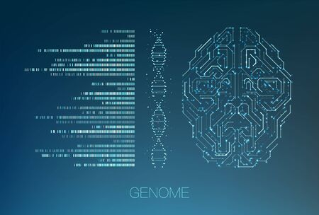 Big genomic data visualization. DNA test, genom map. Graphic concept for your design Stockfoto - 129900539