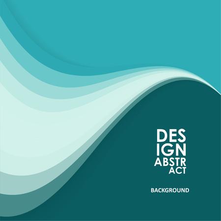 Sfondo ondulato astratto, linee ondulate per brochure, sito Web, design di volantini
