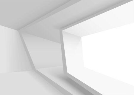 Streszczenie projektu architektury. Koncepcja graficzna dla Twojego projektu Ilustracje wektorowe