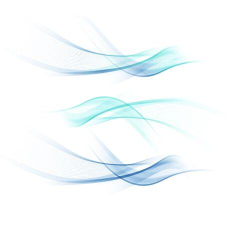 Abstract wavy background, colorful waved lines for brochure, website, flyer design.  Иллюстрация