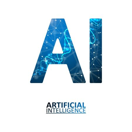 Artificial intelligence illustration. Neural networks and another modern technologies concepts. Data transfer concepts in internet. Graphic concept for your design Иллюстрация