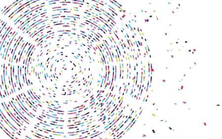 Visualización infográfica de la prueba de adn. Representación de código de Big Data. Mapa de secuencia del genoma. Concepto gráfico para su diseño