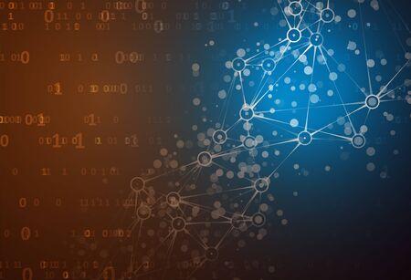 Represent coding technology and programming languages. Futuristic technology representation. Graphic concept for your design Illusztráció