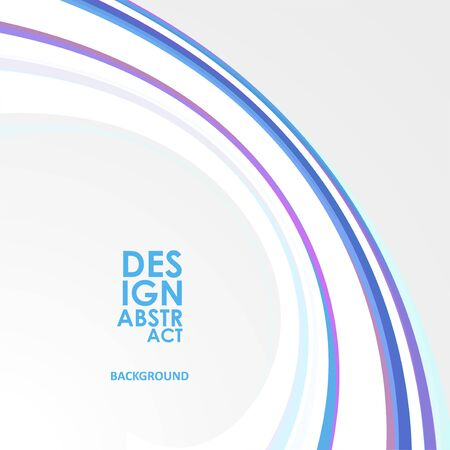 Colorful wavy lines. Abstract waved lines for brochure, website, flyer design 写真素材 - 129939051