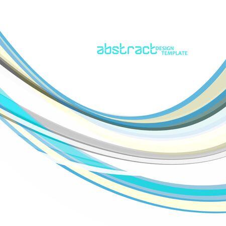 Abstract colorful wave background, wavy lines for brochure, website, flyer design Иллюстрация