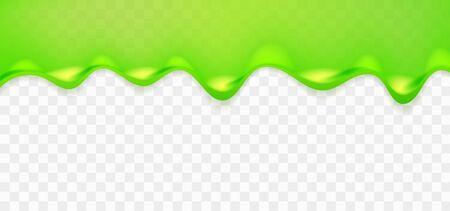Slime pegajoso verde realista. Ilustración aislada sobre fondo transparente. Concepto gráfico para su diseño Ilustración de vector