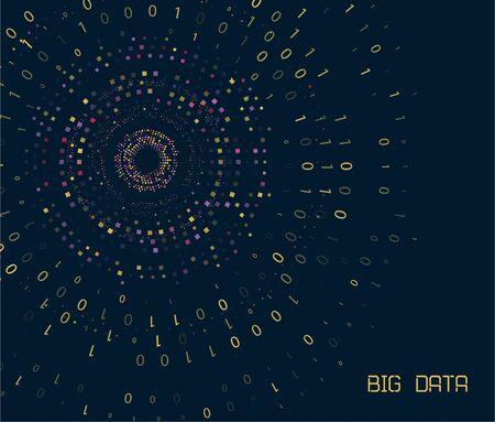 Big genomic data visualization. DNA test, genom map. Graphic concept for your design Illustration