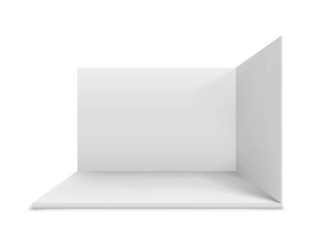 Blank white trade stand. Illustration isolated on white background. Graphic concept for your design Illustration