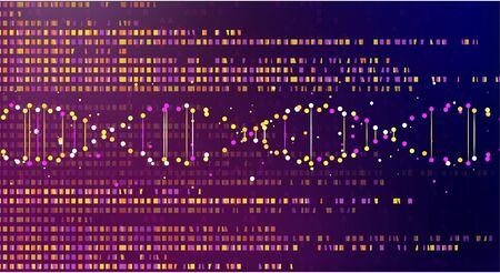 Gran visualización de datos genómicos. Prueba de ADN, mapa del genoma. Concepto gráfico para su diseño