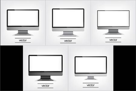 Computer Display, Vector Illustration , Graphic Concept For Your Design.