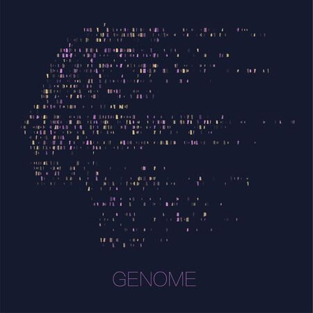 Big genomic data visualization. DNA test, genom map. Graphic concept for your design Illusztráció