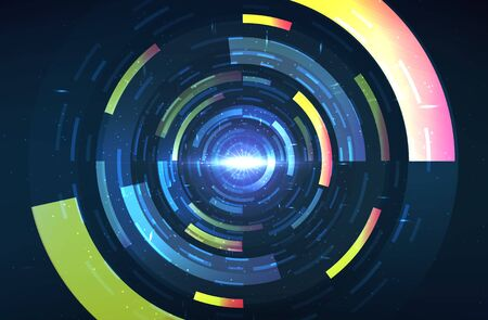 Abstract time travel background. Digital innovation concept for your design.