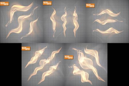 Realistic fire transparent effect element, abstract vector eps10. Magic Illustration