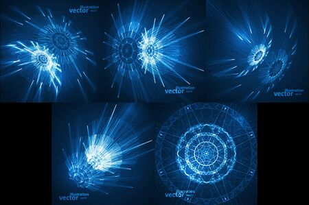 Set of Abstract technologicals vector background, futuristic art illustration eps10
