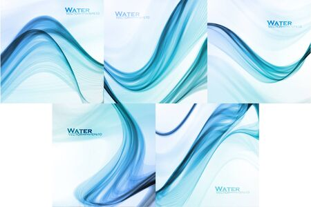 Set of Abstract water backgrounds Stok Fotoğraf - 137845248