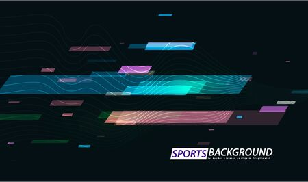 Abstract colored poster for sports. Graphic concept for your design.