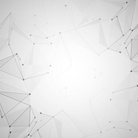 Abstract polygonal space. Background with connecting dots and lines. The concept illustration Stock fotó