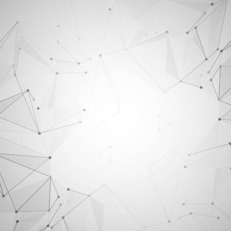 Resumen espacio poligonal. Fondo con puntos y líneas de conexión. La ilustración del concepto Foto de archivo