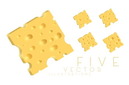The cheese. Illustration isolated on white background. Graphic concept for your design Archivio Fotografico - 137420592