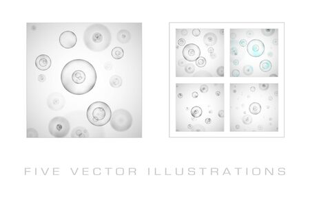 Science background with cells. Graphic concept for your design