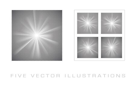 Light effects on transparent background. Graphic concept for your design Archivio Fotografico - 137420593