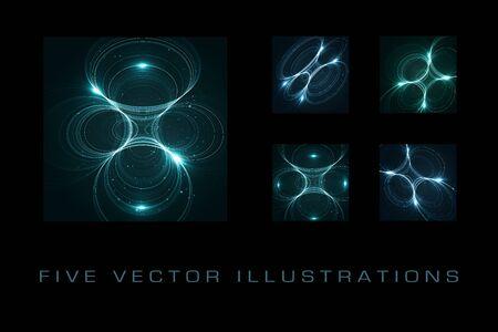 Abstract space futuristic illustration, creative dynamic element. Archivio Fotografico - 137161298