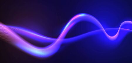 Motion sound wave. Abstract glowing lines. Graphic concept for your design Archivio Fotografico - 137556945