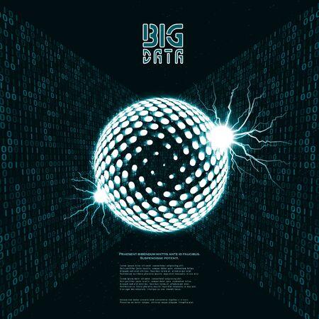 Abstract data transmission visualization. Big data code representation. Graphic concept for your design Archivio Fotografico - 137560451