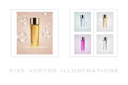 Skin toner ads template. Graphic concept for your design.