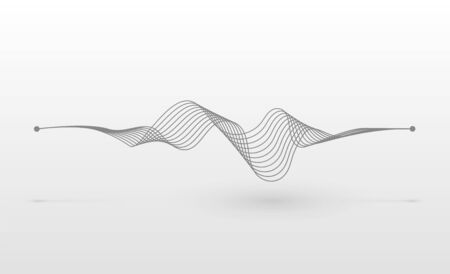 Wireframe sound wave. Abstract motion lines. Graphic concept for your design Archivio Fotografico - 138194037