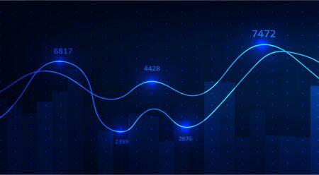 Abstract infographics visualization. Big data code representation. Futuristic network or business analytics. Graphic concept for your design Archivio Fotografico - 138194723