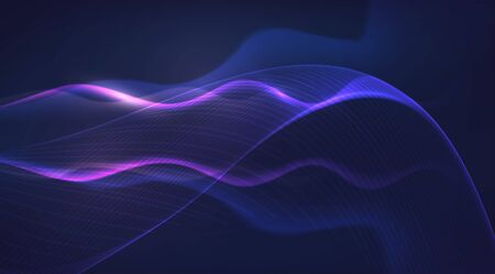 Motion sound wave. Abstract glowing lines. Graphic concept for your design