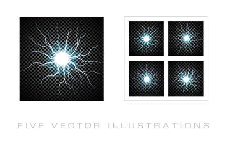 Lightning flash on transparent background. Graphic concept for your design.