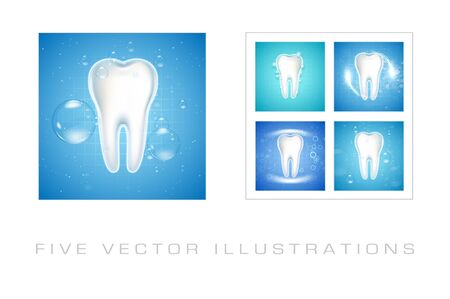 Dental care Tooth Icons. Graphic concept for your design