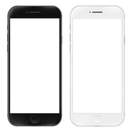 Realistische mobiele telefoon. Smartphone illustratie geïsoleerd op een witte achtergrond. Grafisch concept voor uw ontwerp