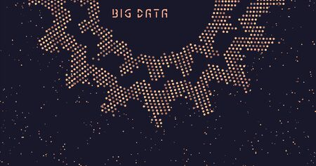 Abstract data transmission visualization. Big data code representation. Futuristic network or business analytics. Graphic concept for your design