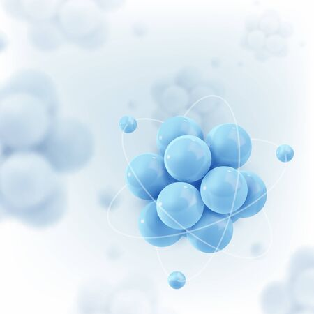 Abstract molecules. Atoms. Graphic illustration for your design