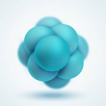 Abstract molecular structure. Group of atoms forming molecule. Graphic illustration for your design Banco de Imagens