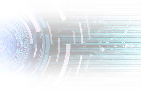 Résumé historique de la technologie de haute technologie. Concept d'innovation numérique pour votre conception.